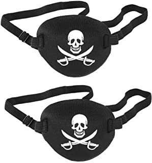 Tvoip 2Pcs Adult and Kids Eye Patch Pirate Skull Style Party Mask For Soft Adjustable Single Eye Cover For Amblyopia Lazy ...