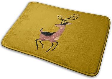 Spring Deer Carpet Non-Slip Welcome Front Doormat Entryway Carpet Washable Outdoor Indoor Mat Room Rug 15.7 X 23.6 inch