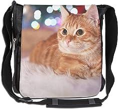 Doinh An Orange Cat Lay On The Blanket Messenger-Tasche aus Segeltuch mit schräger Schultertasche, geeignet für Männer und Frauen