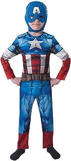 Rubies The Avengers - Disfraz Marvel The Avengers Capitán América para niños, talla L (I-610261L)