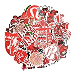 TUHAO Cartoon Red Ins Style Vsco Girl Stickers for Laptop Moto Skateboard Luggage Refrigerator Notebook Laptop Toy Sticker F5 50Pcs