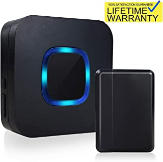 Wireless Doorbell Chime, Home Security System Door Open Motion Sensor Alarm with 1000 FT, 52 Tunes, 4 Volume Levels, LED Indicators Battery Operated - Door Entry Ring Chime for Home, Business, Kids