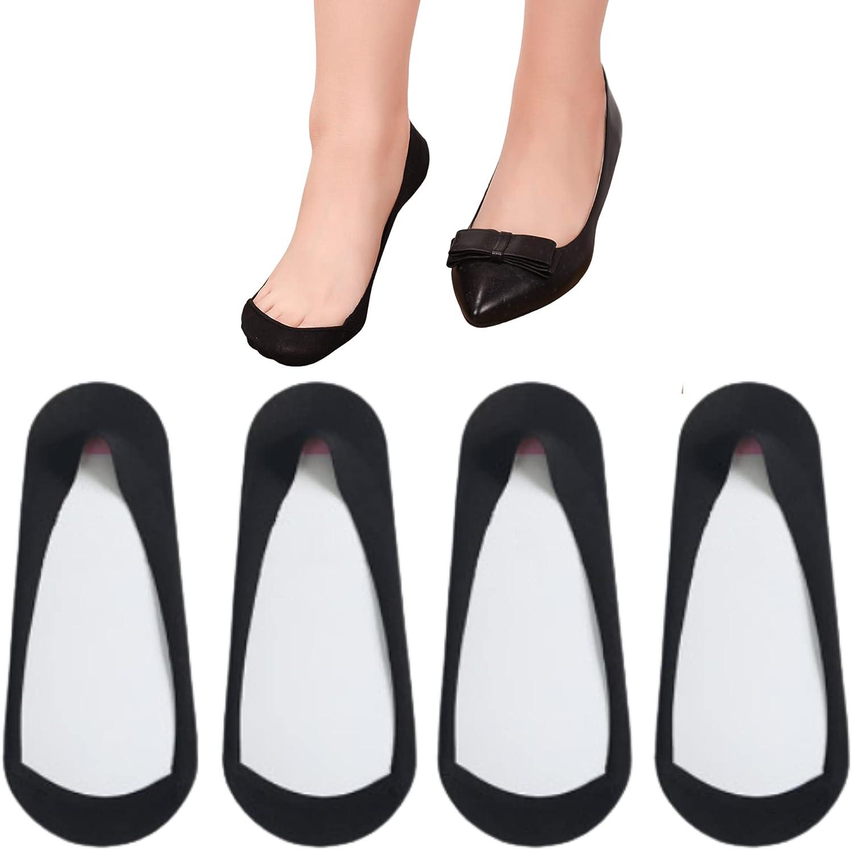 No Show Socks Women Ultra Low Cut TRULY No Show Liner Socks Non Slip for Ballet Flat Pumps Heel Footies Socks