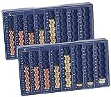 PEARL Zählbrett: 2er-Set Euro-Münzbretter für alle Euro- und Cent-Münzen (Geldzähler)