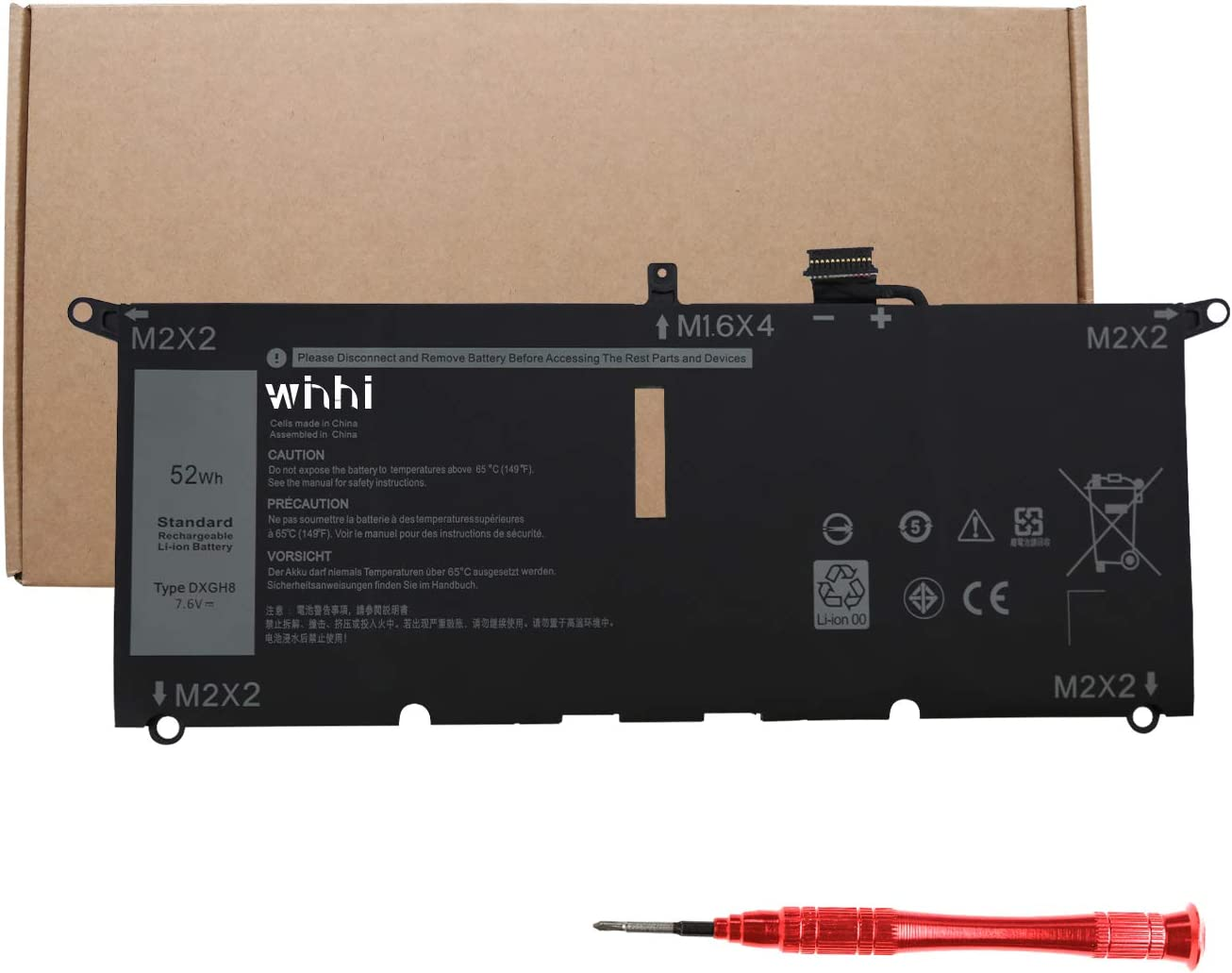 2021 WINHI New DXGH8 Laptop Dell for Battery New color Compatible Chicago Mall Inspiron