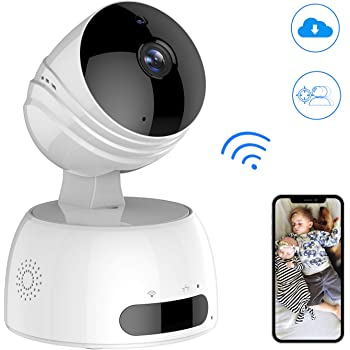 Wireless IP Kamera, ROXTAK HD Überwachungskamera mit WiFi, 355°/100° Schwenkbar, Zwei-Wege-Audio, Nachtsicht, unterstützt Fernalarm und Mobile App Kontrolle für Smartphone/PC