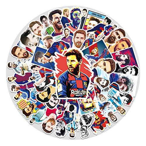 YZFCL Barca Star Lionel Messi Graffiti Sticks Laptop Suitcase Scooter Car Phone Trim Sticker 51Pcs