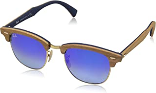 Ray-Ban RB3016M Clubmaster Wood Square Sunglasses