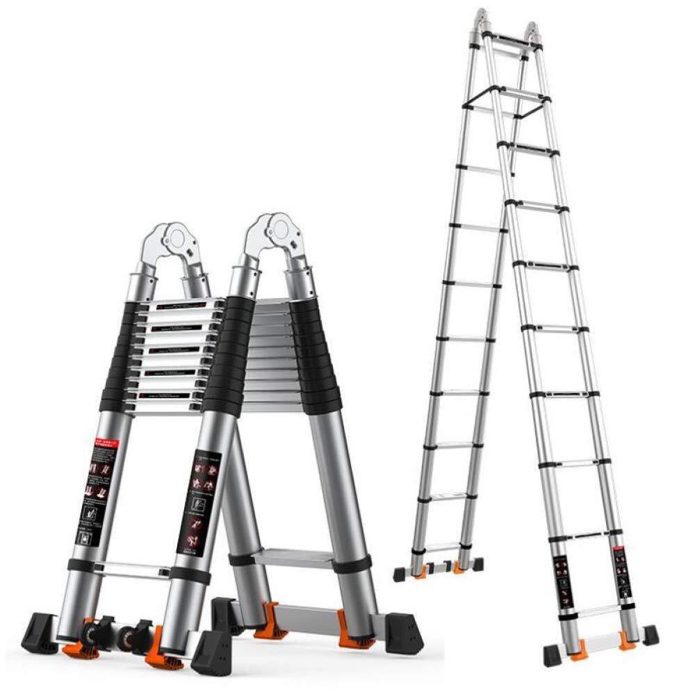 TD Escalera Plegable De Aluminio Máximo De Carga 330lbs General Perfil Ampliable con Polea Y Alargar La Barra Estabilizadora Escalera (Size : 1.9+1.9m-Multi-functionLadder): Amazon.es: Hogar