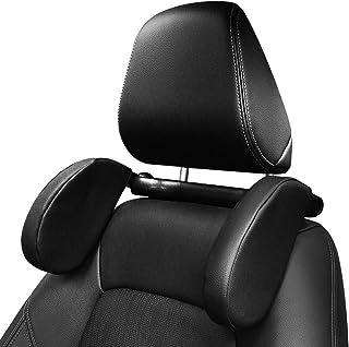 Runsnail Car Headrest Pillow Travel Headrest for car 180°Adjustable Washable PU Lether Car Neck Pillow Head Pillow Car Hea...