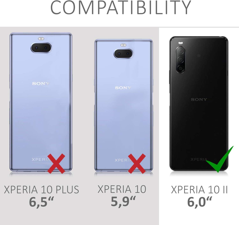 Protector Trasero en petr/óleo Mate Carcasa de TPU Silicona kwmobile Funda Compatible con Sony Xperia 10 II