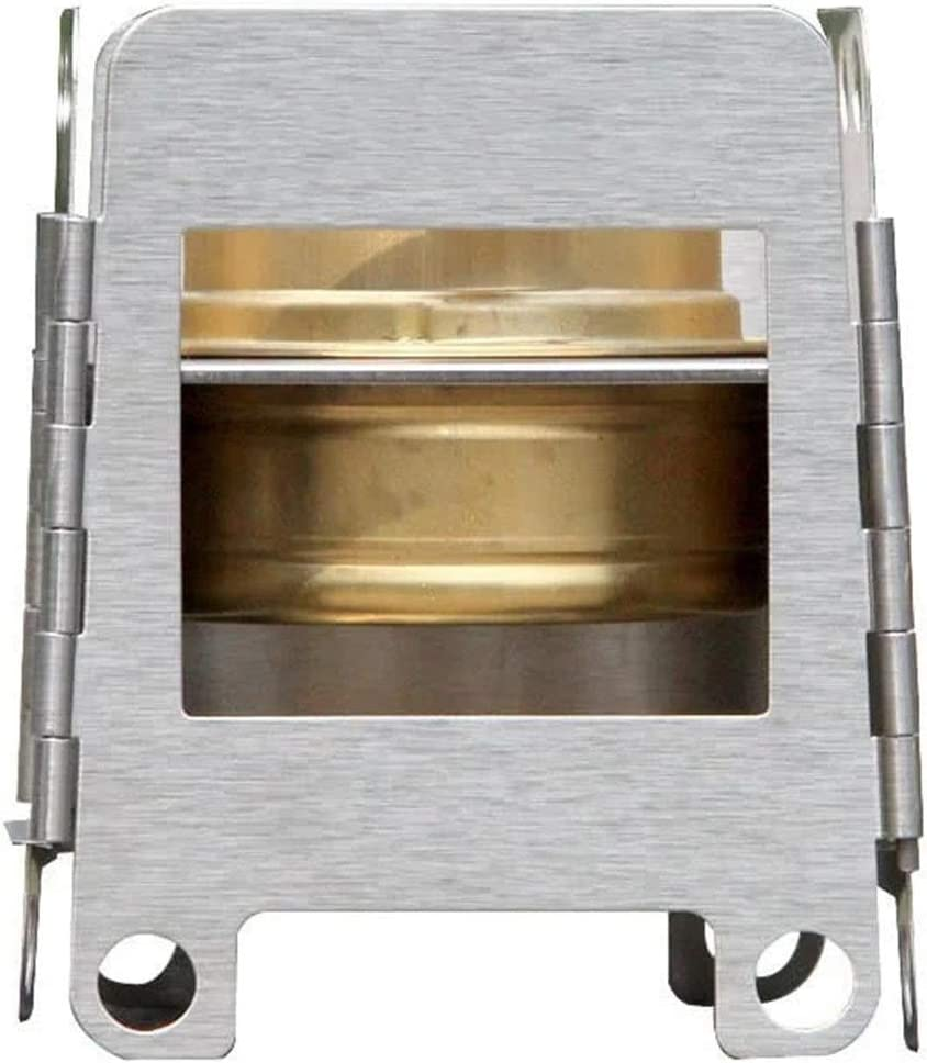 In a Overseas parallel import regular item popularity Rnwen Camping Stove Folding Stainless Backpac Pocket Steel