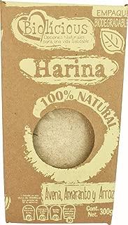 Biolicious Harina Avena Amaranto y Arroz, 300 g
