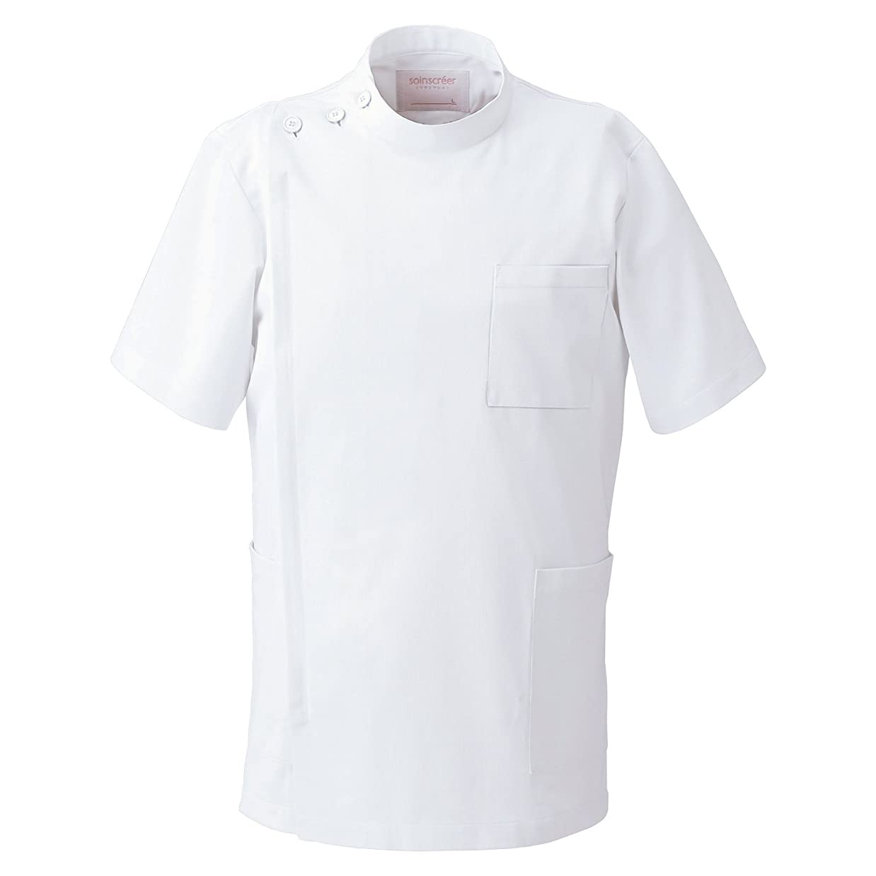 意志に反する陰気覗く[フォーク] 男子 上衣 白衣 1010CR