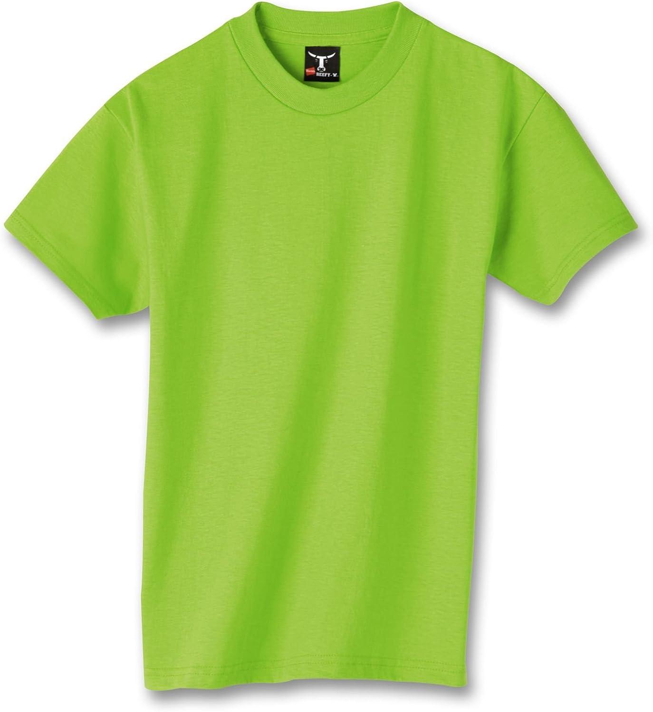Hanes Kids' Beefy 6.1 oz T-Shirt, Lime, XL