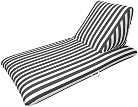 BESTChoiceForYou Chaise Lounge - Black Luxury Fabric Float - Morgan Dwyer Signature Series Pool Lounger Lounge Pool Float Soft and Comfortable Swimming Summer Water