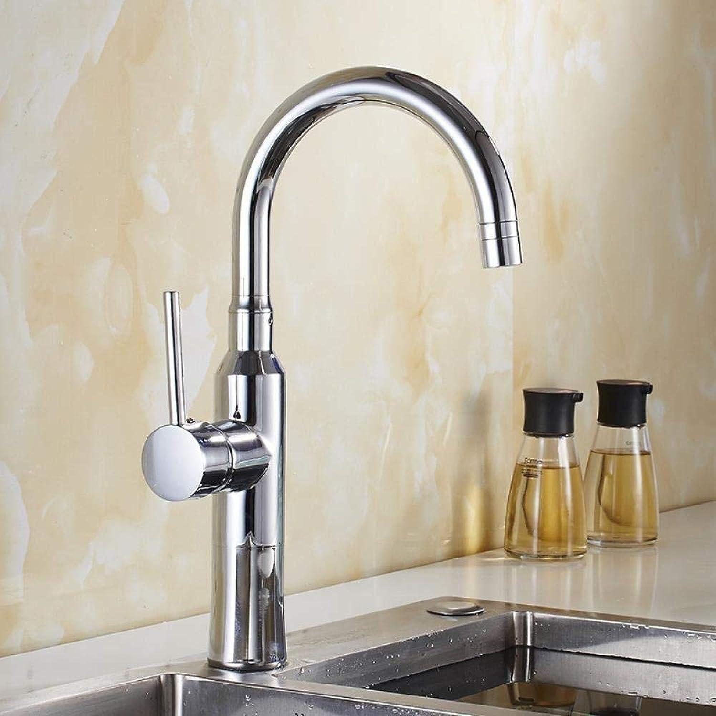 Wasserhahn Edelstahl Messing Chrom Bad Wasserhahn Spültischarmaturen Ausziehbare Küchenarmatur Spüle Spüle Warm- und Kaltlaufender Wasserhahn