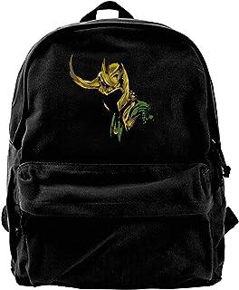 NJIASGFUI Mochila de lona Loki Lafeyson Art Novelty para gimnasio, senderismo, portátil, bolso de hombro para hombres y mu...