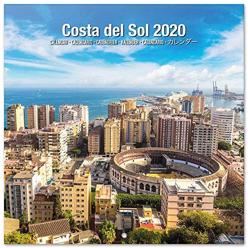 ERIK® Costa del Sol Wandkalender/Broschürenkalender 2020 30x30cm (aufgeklappt 30x60cm im Hochformat)