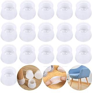 Protectores de patas de silla, de silicona, para patas redondas y cuadradas, protectores de suelo para muebles, evita arañ...