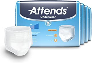 Attends Advanced Protective Underwear with Advanced DermaDry Technology for Adult Incontinence Care, Youth/Small, Unisex, 20 Count (Pack of 4)