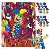 BeYumi 36Pcs Pin die Nase und Ball auf Zirkus Clown Poster,