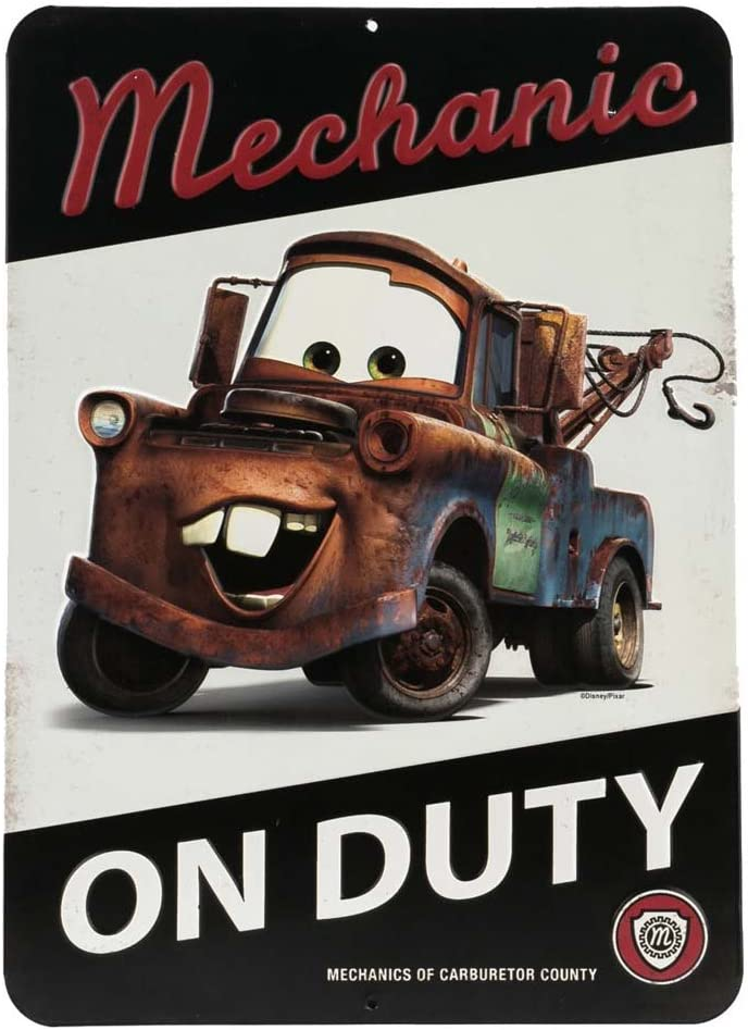 Open Road Brands Disney Cars Tow Mater Mechanic On Duty Embossed