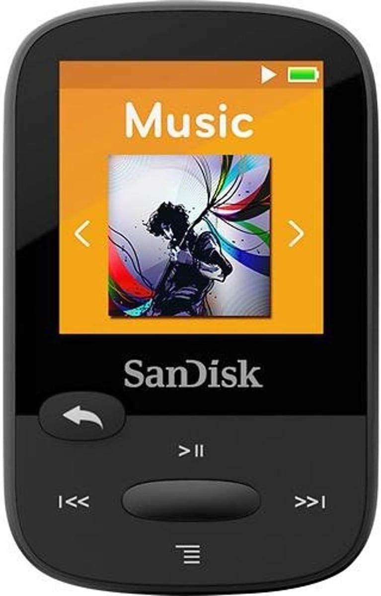 """Sandisk SDMX24-008G-A46K 8gb 1.44"""" Clip Sport Mp3 Players (Black)"""