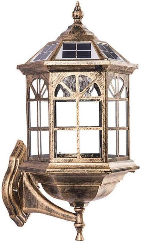 Retro Licht Wasserdichte Gartenlampe Auenwandleuchte Balkon Auen Europischen Garten Villa Landschaft Beleuchtung 46  26 Cm, Bronze [Energieklasse A +]