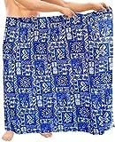 LA LEELA Sarong Pareo para Cubrir Piel del Abrigo Hombres Ropa de Playa Tropical Traje de baño Traje de baño Azul Nadar
