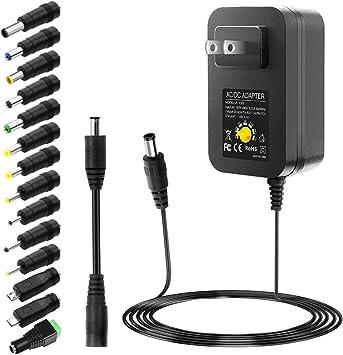 Garage & Shop IBERLS 24W Universal Power Supply 5V 6V 7V 8V 9V 10V ...
