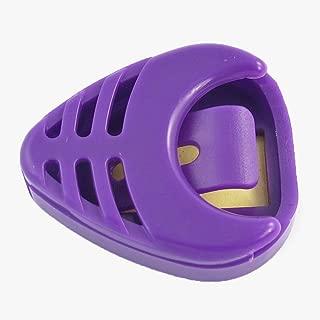 uxcell Handy Purple Plastic Guitar Plectrum Thumb Pick Case Box