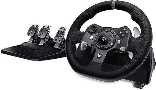 Logitech G920 Driving Force Volant de Course avec Pédales, Retour de Force, Palettes Volant Acier Inoxydable, Volant ...