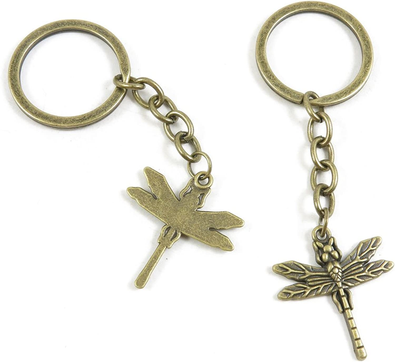 190 Pieces Fashion Jewelry Keyring Keychain Door Car Key Tag Ring Chain Supplier Supply Wholesale Bulk Lots C8QI2 Dragonfly