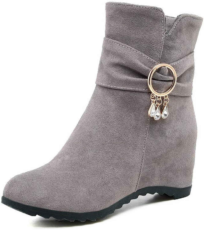 AdeeSu Womens Solid Beaded Charms Urethane Boots SXC02872