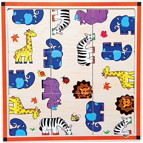 Legler - Jouets de construction et puzzle - Puzzle cadre Safari