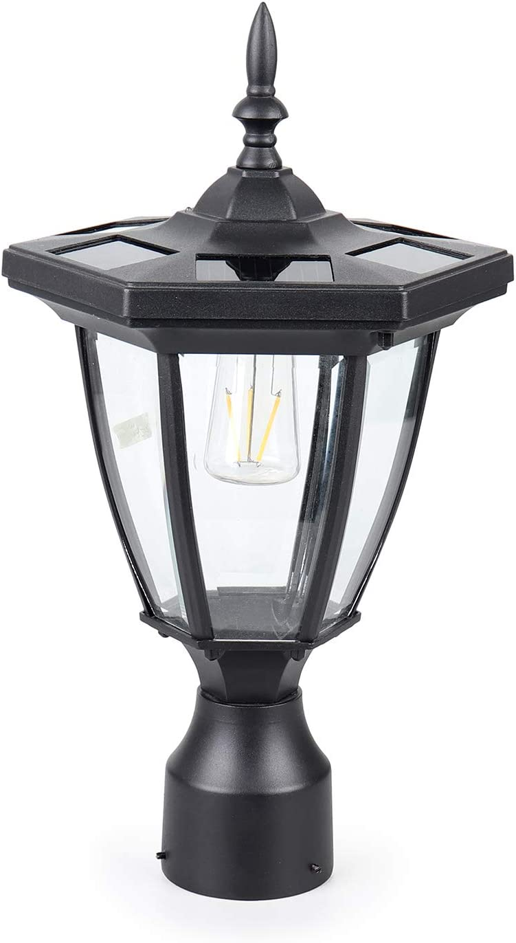 KMC Industry No. Free shipping / New 1 LIGHTING ST6321Q-A Solar Post Light Alum Outdoor Die-Casting