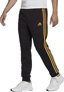 Men's Essentials Fleece Tapered Elastic Cuff 3-Stripes Pants
