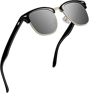 1f98b5287b VVA Gafas de sol polarizadas clásico retro medio marco para Hombre y Mujer  V1002