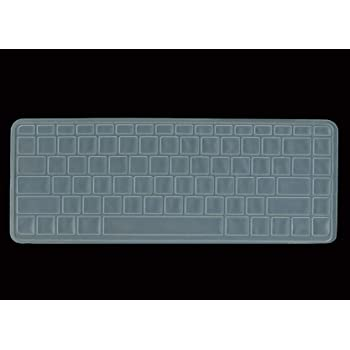 Black with Clear Saco Chiclet Keyboard Skin for HP Split 13-m008TU X2 Laptop