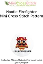 Hootie Firefighter Mini Cross Stitch Pattern