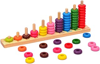 Wooden Educational Counting Toys - Math Abacus Number Learning Toy for Kids for 3 Year Old and up