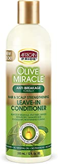 African Pride Olive Miracle Leave-In Conditioner (3 Pack) enriched with olive oil and tea tree to seal in moisture and pre...