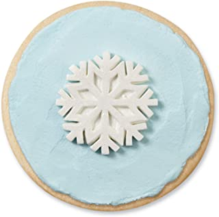Wilton 710-3467 12 Count Snowflakes with Sparkle Royal Icing Decorations