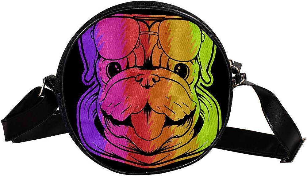 Coin Purse Latest item For Kids Colored Bulldog Mini Crossbody Bag El Paso Mall Head Girl