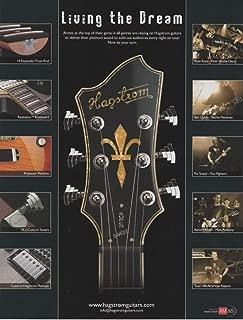 Magazine Print ad: 2007 Guitarists Aaron McLain-Toad-Pat Smear-Ryan Ross-Ben Curtis for Hagstrom Electric Guitars,