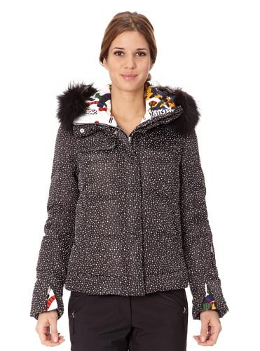 VIST Daunen-Skijacke Hannah schwarz/weiß XL