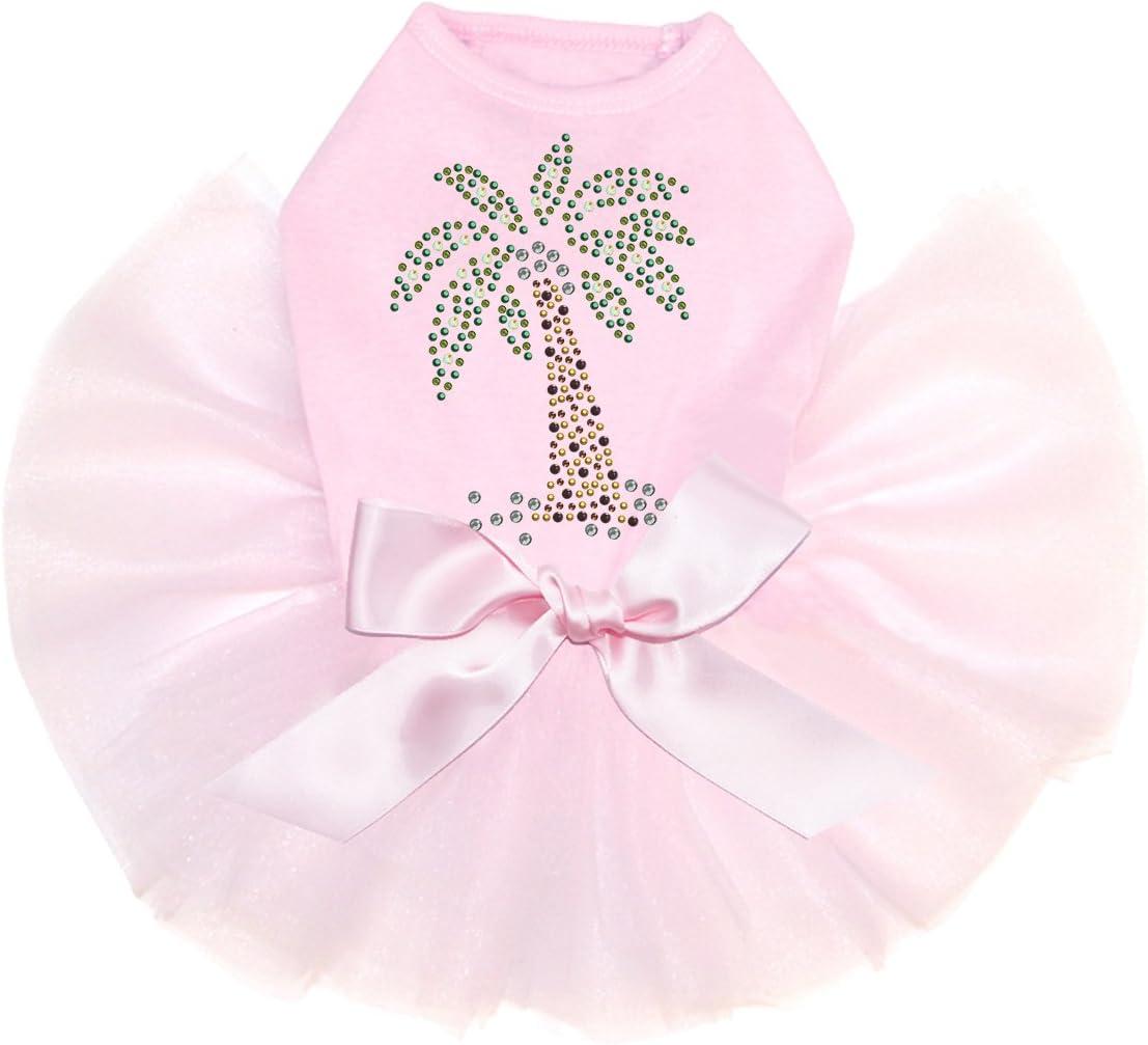 Coconut Tree - Green Bling Rhinestone 2XL Dress Dog Pink Max Latest item 69% OFF Tutu
