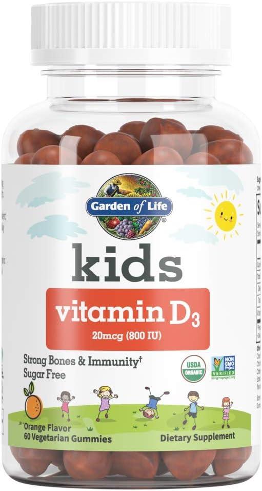 Quantity limited Garden of Life Kids Elegant Organic Vitamin Orange Flavor D3 - Gummies