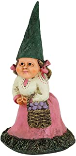 Sunnydaze Isabella The Female Garden Gnome Lawn Statue, Outdoor Yard Ornament, 8 Inch Tall